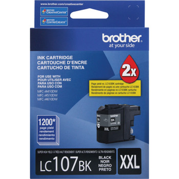 Brother LC107BK Super High Yield Ink Cartridge - Black - 1200 Page