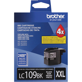 Brother LC109BK High Yield Ink Cartridge - Black - Yield 2400 Pages
