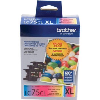 Brother LC753PKS Ink Cartridge Value Pack C, M, Y - 600 High Yield