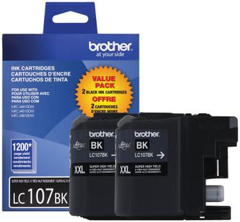 Brother LC1072PKS Super High Yield Ink Cartridge - Black - 1200 Yield