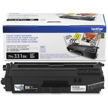 Brother TN331BK Toner Cartridge - Black - Yield 2500 Pages