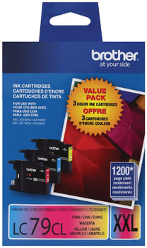 Brother LC79CL Super Ink Cartridge Value Pack C, M, Y - 1200 Pages