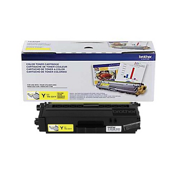 Brother TN331Y Toner Cartridge - Yellow - Yield 1500 Pages