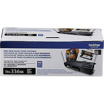 Brother TN336BK High Yield Toner Cartridge - Black - Yield 4000 Pages