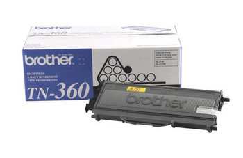 Brother TN360 Toner Cartridge - Black - Yield 2600 Pages