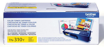 Brother TN310Y Toner Cartridge - Yellow - Yield 1500 Pages