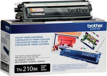 Brother TN210BK Toner Cartridge - Black - Yield 2200 Pages