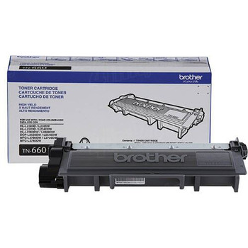 Brother TN660 High Yield Toner Cartridge - Black - Yield 2600 Pages