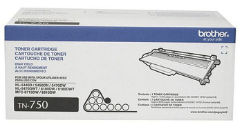 Brother TN750 High Yield Toner Cartridge - Black - Yield 8000 Pages