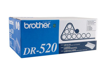 Brother DR520 Drum - Black - Yield 25,000 Pages