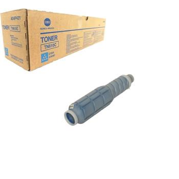 Konica Minolta A04P430, TN610C Toner Cartridge - Cyan - 24,000 Yield