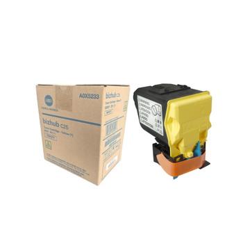 Konica Minolta A0X5233, TNP27Y Toner Cartridge - Yellow - 6,000 Yield