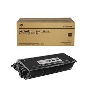 Konica Minolta A32W011, TNP24 Toner Cartridge - Black - 8,000 Yield