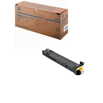 Konica Minolta A0DK233, TN318Y Toner Cartridge - Yellow - Yield 8,000