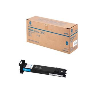 Konica Minolta A0DK433, TN318C Toner Cartridge - Cyan - Yield 8,000