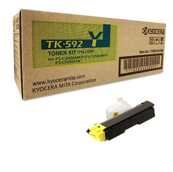 Kyocera TK592Y Yellow Toner 5K Yield 1T02KVAUS0