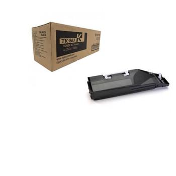 Kyocera TK867K Black Toner 20K Yield 1T02JZ0US0