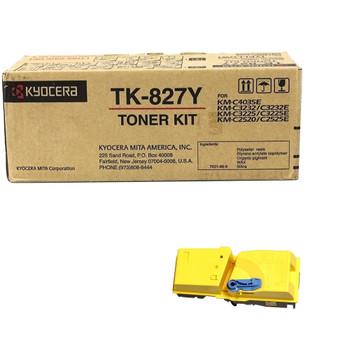 Kyocera TK827Y Yellow Toner 7K Yield 1T02FZAUS0