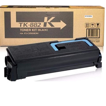 Kyocera TK882K Black Toner 25000 Yield 1T02KA0US0