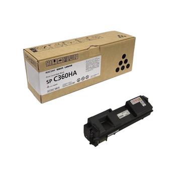 RICOH 408176 SP C360HA  Toner Cartridge Black - High Yield 7000 Pages
