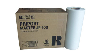 Ricoh 893023 Type JP10S Thermal Master , Box of 2
