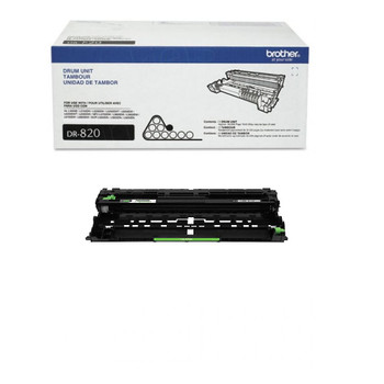 Brother DR820 Drum Unit - Black - Yield 30,000 Pages