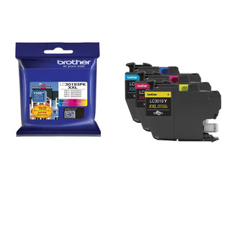 Brother LC30193PK Super High Yield Ink Cartridge C, M, Y - 1500 Each