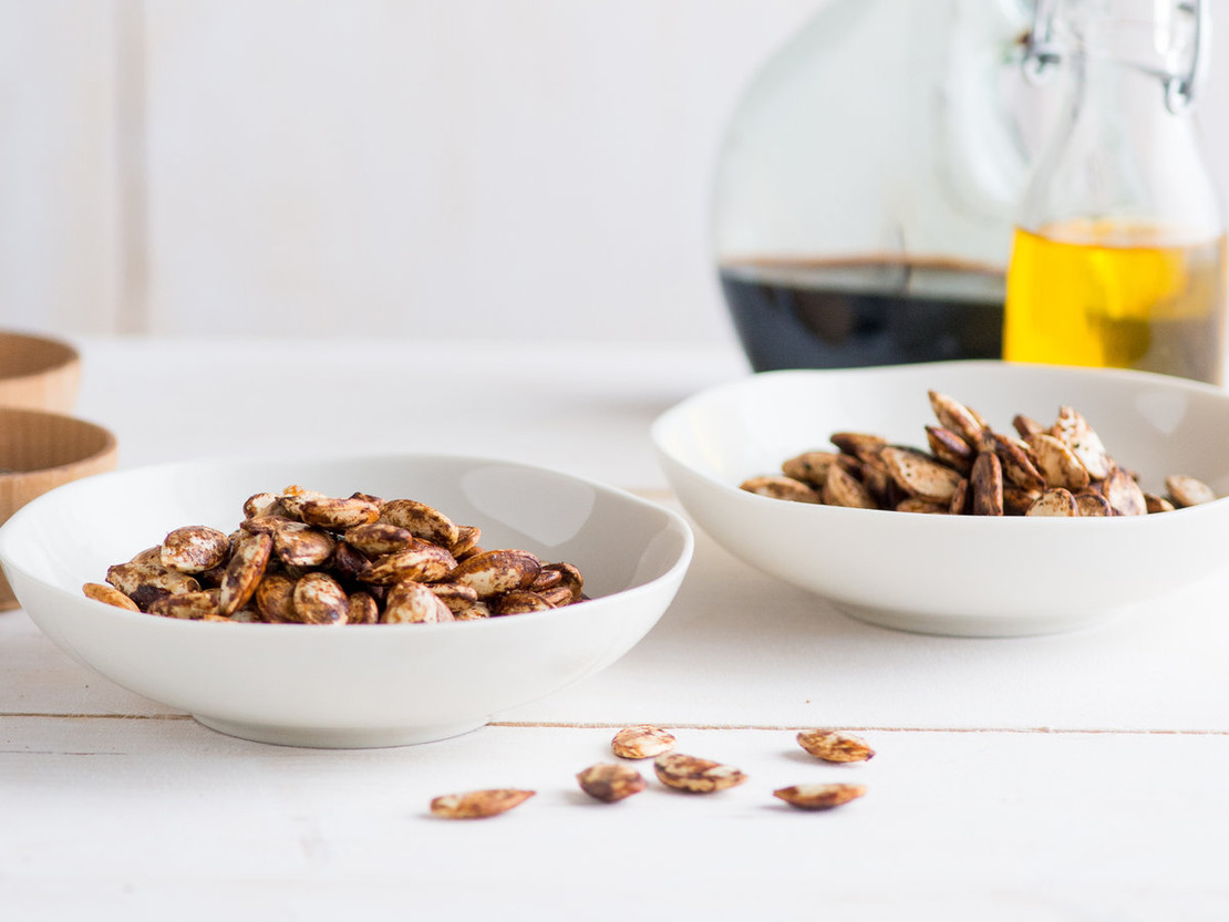 Balsamic Glazed Pumpkin Seeds