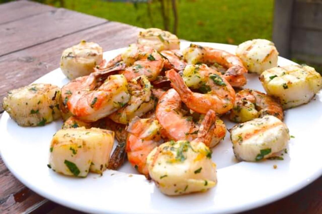 Blood Orange Grilled Scallops or Shrimp