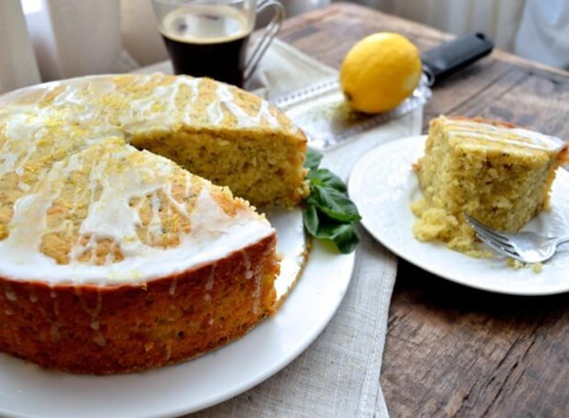 Lowcountry Lemon Basil Olive Oil Cake