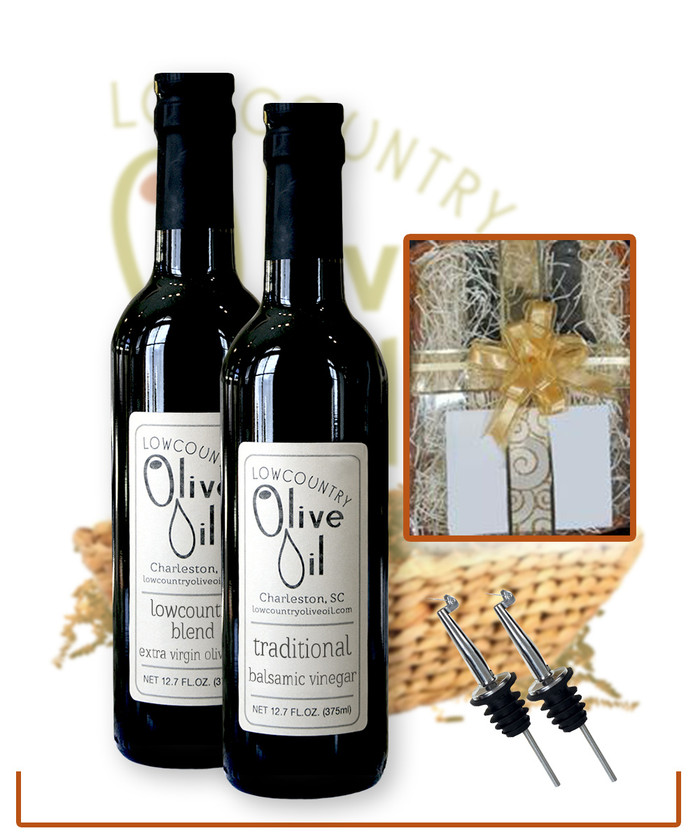 Classic Gift Basket with  2 Spouts