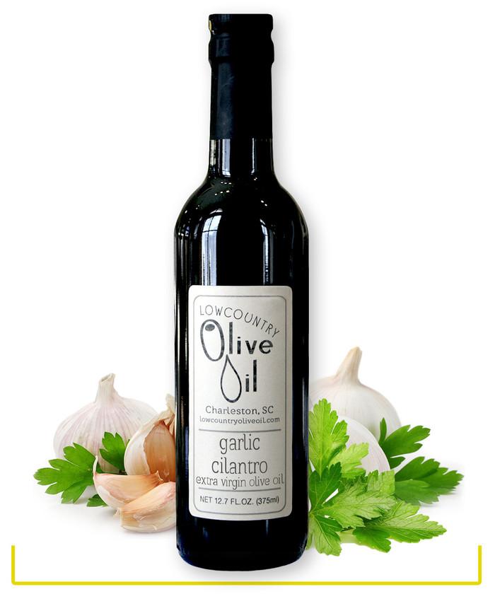 Garlic Cilantro Olive Oil