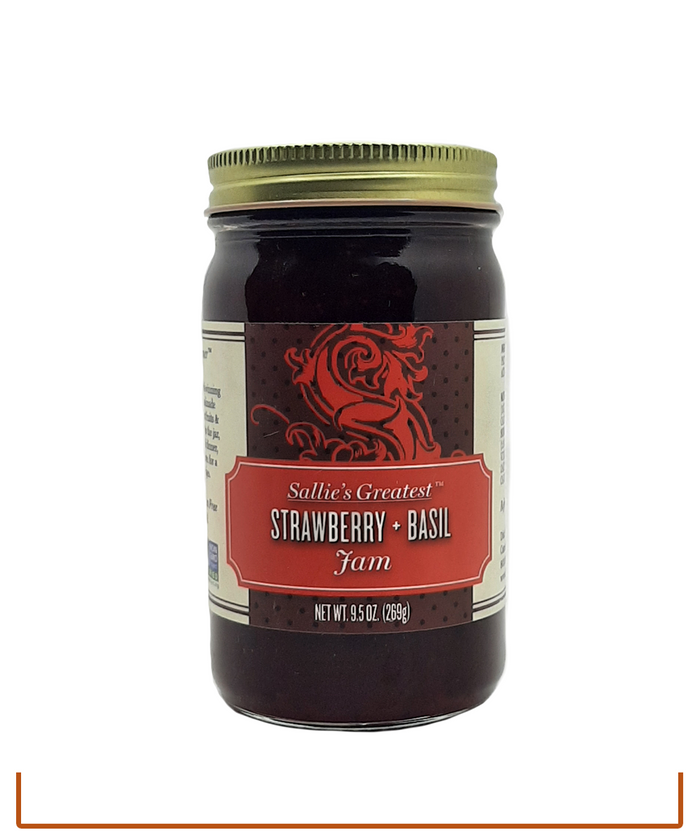 Sallie's Greatest Strawberry Basil Jam