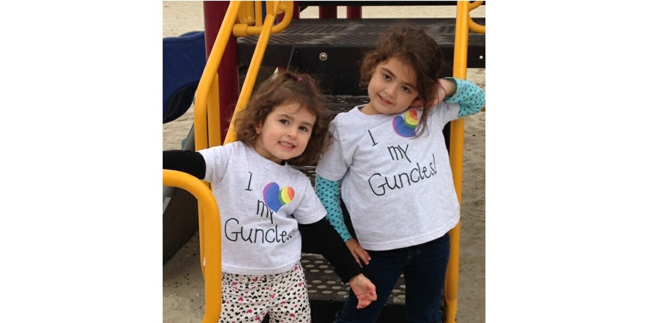 Rocking their GUNCLES wear at the park!