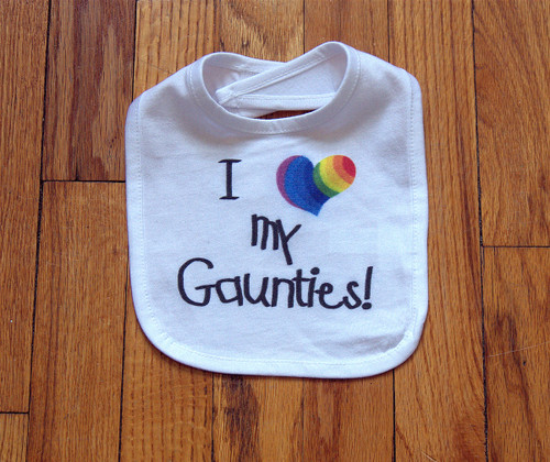 Darling bib from the two of you!