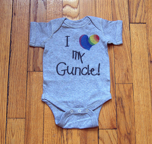 Be the FAVORITE uncle at the shower with this dandy romper!