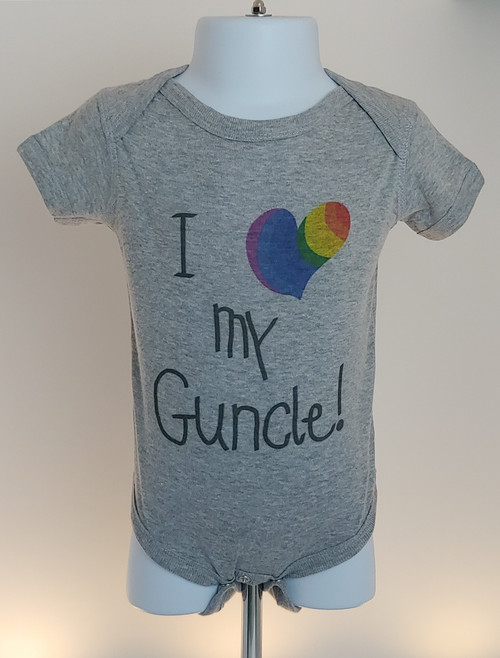 Every baby needs a Guncle in her life!