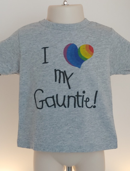 This I Heart My Gauntie tShirt is PERFECT for Auntie's birthday or PRIDE!