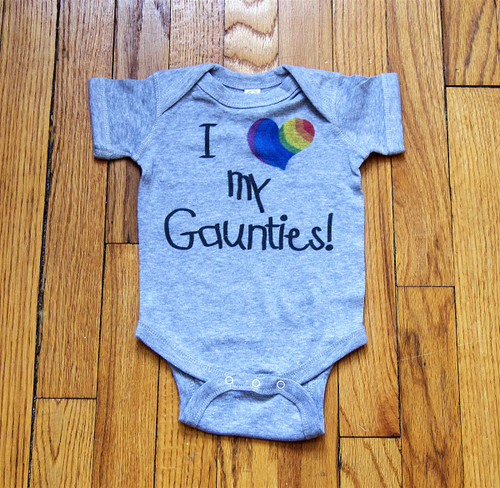 How cute is this romper designed from the two BEST gay aunts in the world?