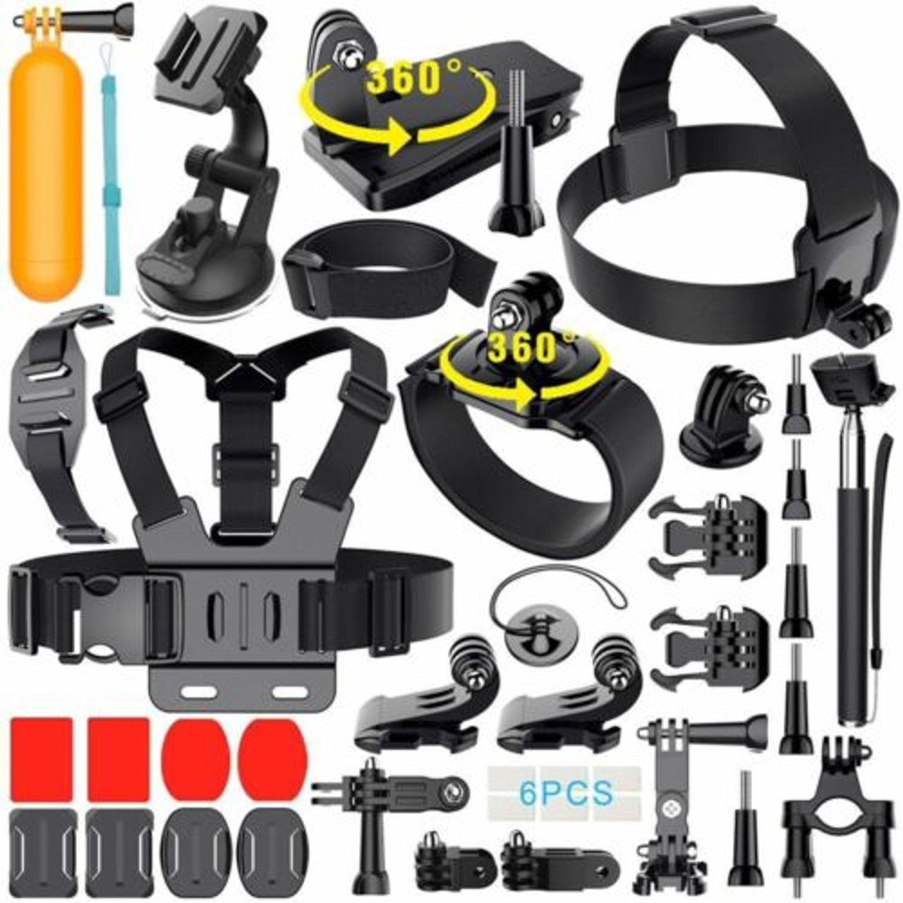 Monopod Floating Mount Accessories Kit For GoPro Hero 8 7 6 5 4 3 2Sports Camera