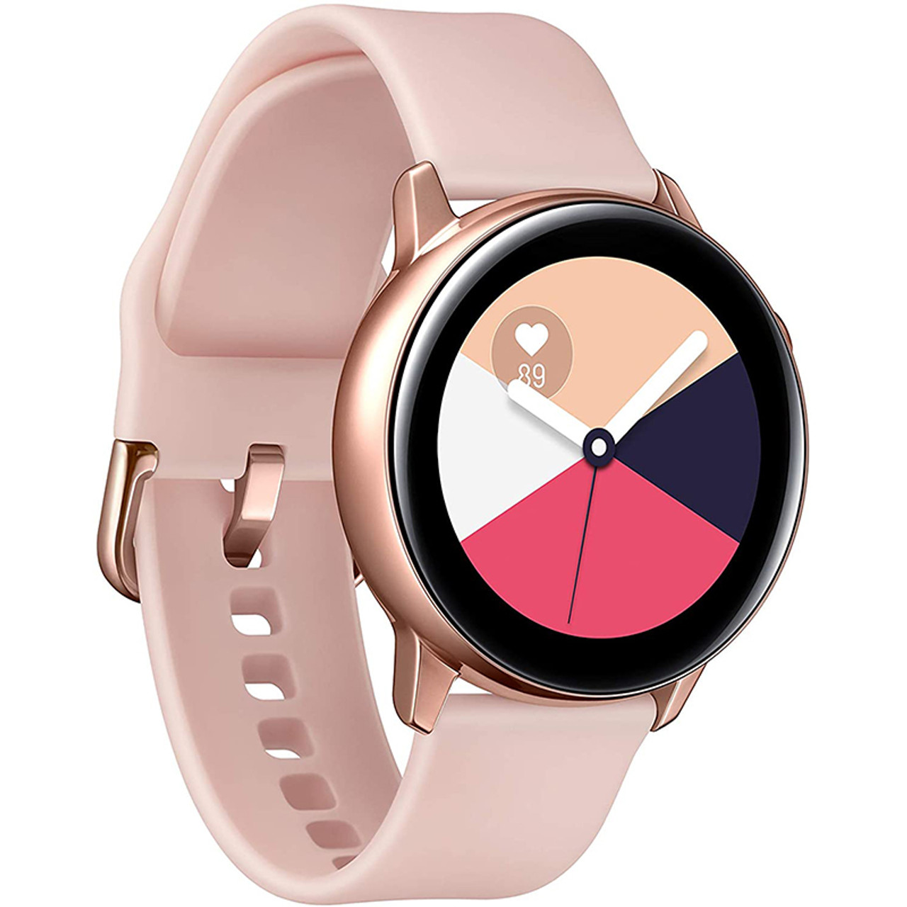 Samsung Galaxy Watch Active (40MM, GPS, Bluetooth) Smart Watch with Fitness Tracking, and Sleep Analysis - Rose Gold