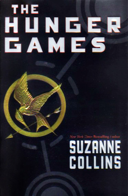 The Hunger Games story book novel by Suzanne Collins. Scholastic.