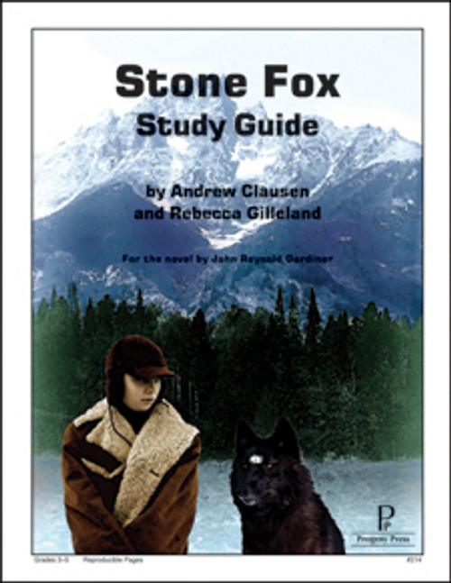 Stone Fox Progeny Press unit study guide lesson plans for literature and reading from a Christian worldview with Biblical integration