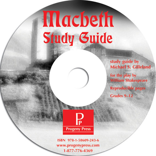 Macbeth Progeny Press unit study guide lesson plans for literature and reading from a Christian worldview with Biblical integration