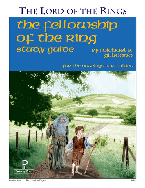 Fellowship of the Ring by J.R.R. Tolkien unit study guide lesson plans for literature and reading from a Christian worldview with Biblical integration. Teacher resource curriculum, hands on ideas, projects, worksheets, comprehension questions, and activities.