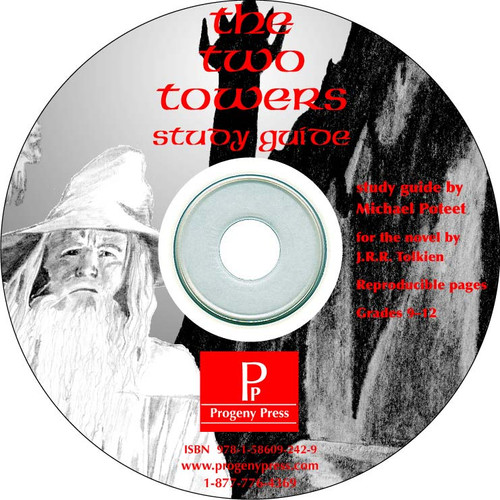 The Two Towers *Print Only CD*  Progeny Press unit study guide lesson plans for literature and reading from a Christian worldview with Biblical integration