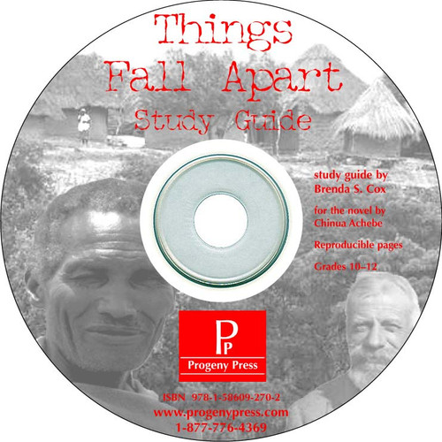 Things Fall Apart *Print Only CD* Progeny Press unit study guide lesson plans for literature and reading from a Christian worldview with Biblical integration