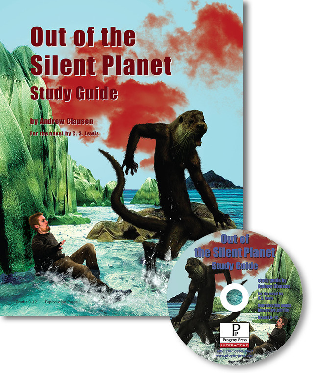 Out of the Silent Planet unit study guide lesson plans for literature and reading from a Christian worldview with Biblical integration. Teacher resource curriculum, hands on ideas, projects, worksheets, comprehension questions, and activities.
