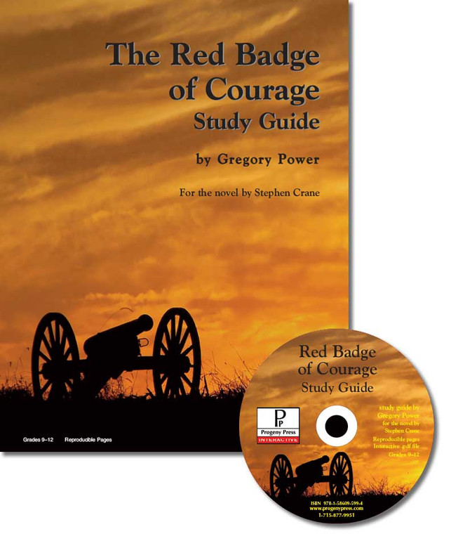 The Red Badge of Courage by Stephen Crane unit study guide lesson plans for literature and reading from a Christian worldview with Biblical integration. Teacher resource curriculum, hands on ideas, projects, worksheets, comprehension questions, and activities.
