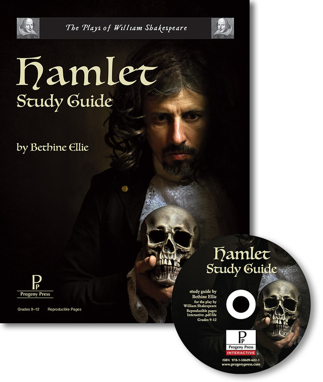 Hamlet by William Shakespeare, unit study guide lesson plans for literature and reading from a Christian worldview with Biblical integration. Teacher resource curriculum, hands on ideas, projects, worksheets, comprehension questions, and activities.